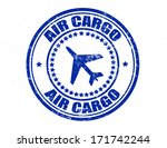 stamp with text air cargo... | Shutterstock .eps vector #171742244