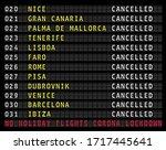 flight information display ... | Shutterstock .eps vector #1717445641