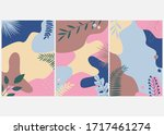 set of vector abstract... | Shutterstock .eps vector #1717461274