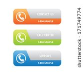 contact support banners   Shutterstock .eps vector #171749774