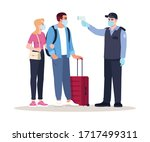 health check upon arrival semi... | Shutterstock .eps vector #1717499311