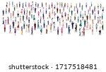 large group of people on white... | Shutterstock .eps vector #1717518481