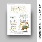 music party brochure  flyer ... | Shutterstock .eps vector #1717524124