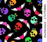 colorful seamless pattern of... | Shutterstock .eps vector #171753884