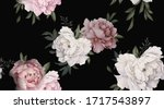 seamless floral pattern with... | Shutterstock . vector #1717543897