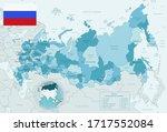 blue green detailed map of... | Shutterstock .eps vector #1717552084