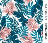 original seamless tropical... | Shutterstock .eps vector #1717558141