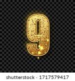 golden glitter number nine.... | Shutterstock .eps vector #1717579417