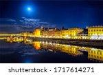 Night City River Reflection...