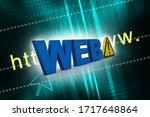 3d illustration web with... | Shutterstock . vector #1717648864