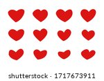 set heart hand drawn icons... | Shutterstock .eps vector #1717673911