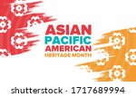 asian pacific american heritage ... | Shutterstock .eps vector #1717689994