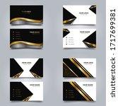bundle business card template...   Shutterstock .eps vector #1717699381