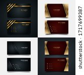 bundle business card template...   Shutterstock .eps vector #1717699387