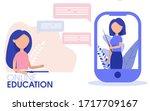 education concept of online... | Shutterstock .eps vector #1717709167