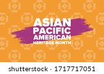 asian pacific american heritage ... | Shutterstock .eps vector #1717717051