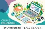 online learning concept. online ... | Shutterstock .eps vector #1717737784