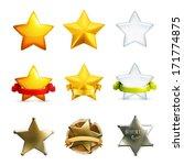 stars icon set  vector | Shutterstock .eps vector #171774875