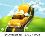 road to clouds  vector... | Shutterstock .eps vector #171774935