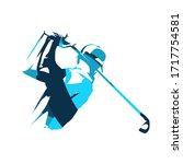 golf player icon  isolated... | Shutterstock .eps vector #1717754581