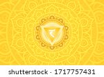 manipura  solar plexus chakra...   Shutterstock .eps vector #1717757431