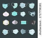 design of a respiratory... | Shutterstock .eps vector #1717758181
