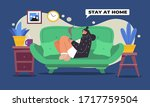 young women sitting and...   Shutterstock .eps vector #1717759504
