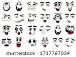 cartoon faces. kawaii cute... | Shutterstock .eps vector #1717767034
