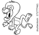 vector illustration of cartoon... | Shutterstock .eps vector #171777461