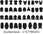 large collection of women's... | Shutterstock .eps vector #1717784251