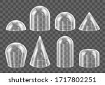 glass domes. realistic... | Shutterstock .eps vector #1717802251