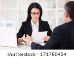 hr director and job candidate.... | Shutterstock . vector #171780434