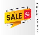 sale   creative banner vector... | Shutterstock .eps vector #1717815214
