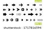 set of black vector arrows.... | Shutterstock .eps vector #1717816594