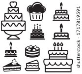 Cakes Related Icons  Thin...