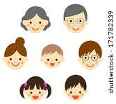 set of family icons   vector...   Shutterstock .eps vector #171782339