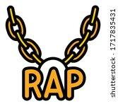 rap necklace icon. outline rap... | Shutterstock .eps vector #1717835431