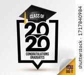 logo class of 2020. congrats... | Shutterstock .eps vector #1717840984