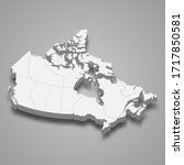 3d map of canada with borders... | Shutterstock .eps vector #1717850581