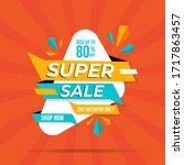 super sale banner templete...   Shutterstock .eps vector #1717863457