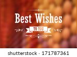 illustration of best wishes... | Shutterstock .eps vector #171787361