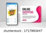 phone banner template. mega... | Shutterstock .eps vector #1717883647