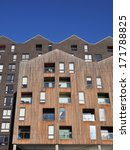 Small photo of IPSWICH, UK - JANUARY 11. Timber clad apartments on January 11, 2014; a dockside regeneration project along Albion Wharf in the port of Ipswich, Suffolk, England, UK.