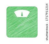 bathroom scale sign. green... | Shutterstock .eps vector #1717911214