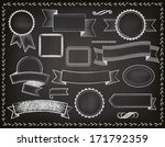 chalkboard ribbons  banners and ... | Shutterstock .eps vector #171792359