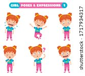 poses and expressions of a...   Shutterstock .eps vector #1717934317