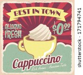 old vintage coffee poster ... | Shutterstock .eps vector #171794741
