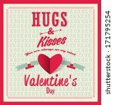 happy valentines day card with... | Shutterstock .eps vector #171795254
