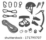 climbing equipment vector set | Shutterstock .eps vector #171795707