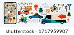 online delivery of product...   Shutterstock .eps vector #1717959907